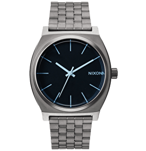Nixon Time Teller Watch - Gunmetal/Blue Crystal