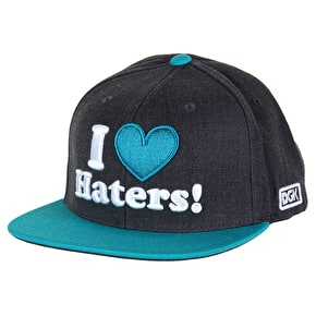 DGK Haters Snapback Cap - Heather/Teal