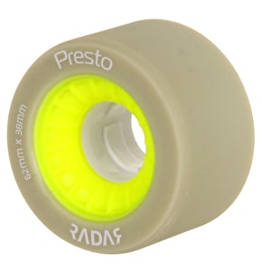 RADAR Presto Quad Derby Wheels 91A Wide - Yellow 62mm