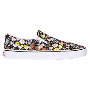 Vans x Peanuts Classic Slip-On Shoes - The Gang/Black