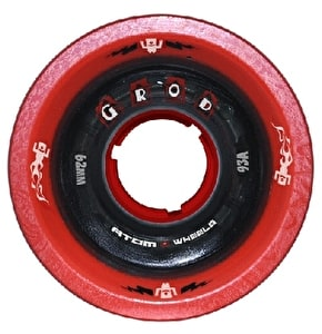 ATOM G-Rod 62mm Quad Derby Wheels 93A (4pk) Red Black