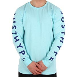 Hype Justhype Long Sleeve T shirt - Mint/Blue