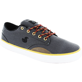 DVS Daewon 14 Skate Shoes - Grey Canvas