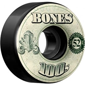 Bones OG 100'S #11 V4 Skateboard Wheels - Black