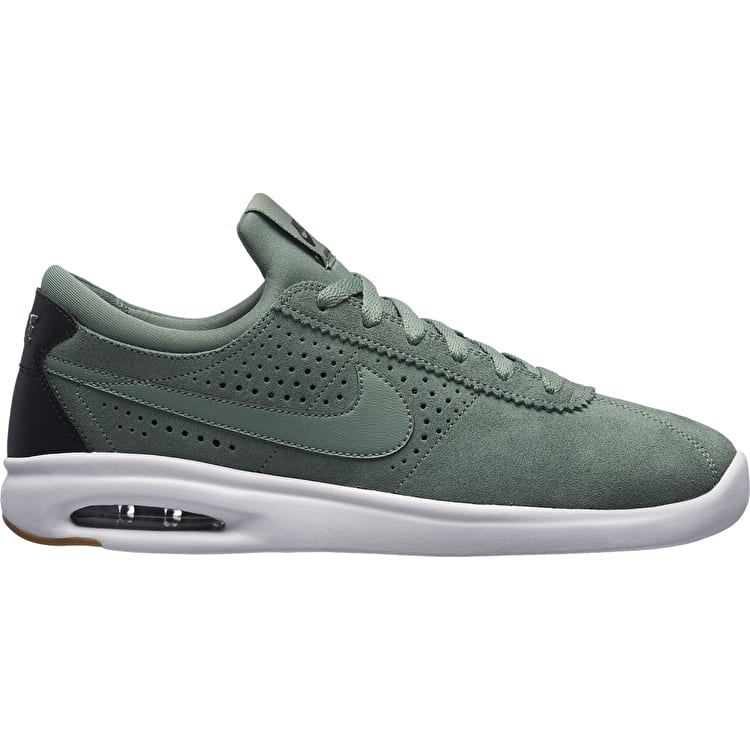 Nike SB Air Max Bruin Vapor Skate Shoes - Clay Green/White