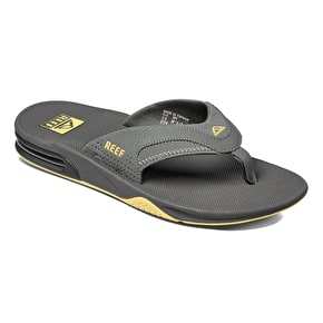 Reef Fanning Flip-Flops - Grey/Yellow