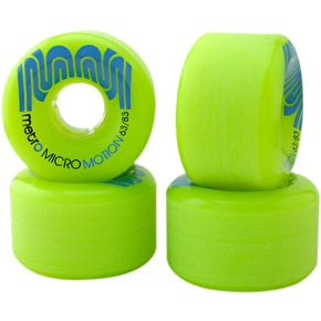 Metro Micro Motion 63mm 83a Longboard Wheels - Green