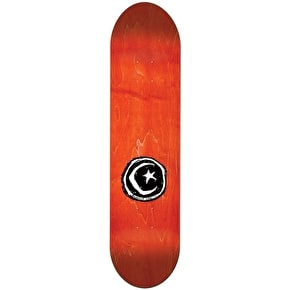 Foundation Star & Moon Stickered Red Team Skateboard Deck - 8.75