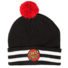 Santa Cruz Classic Dot Bobble Beanie - Black