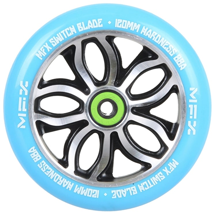 B-Stock MGP MFX Switch Blade Scooter Wheel - R Willy Signature 120mm Blue (split packaging)