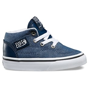 Vans Half Cab Toddler Shoes - (C&L) Chambray/Blue