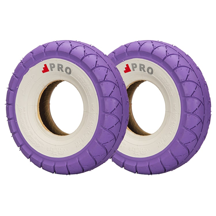Rocker Street Pro Tyres - Purple/Whitewall
