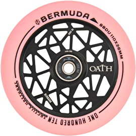 Oath Bermuda Alloy Core Scooter Wheel 110mm - Anodised Black/Pink