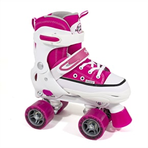 SFR Miami Adjustable Quad Roller Skates - Pink / White