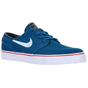 Nike SB Zoom Stefan Janoski Shoes - Green Abyss/White