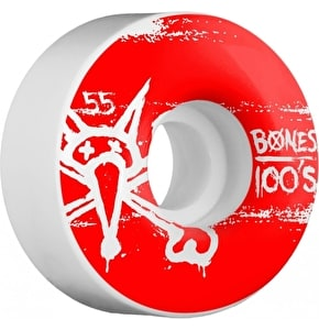 Bones Skateboard Wheels - OG 100's #9 V4 White 55mm