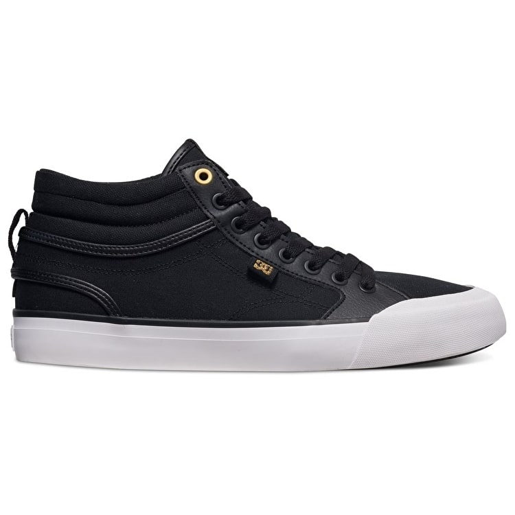 DC Evan Smith Hi Skate Shoes - Black/Gold