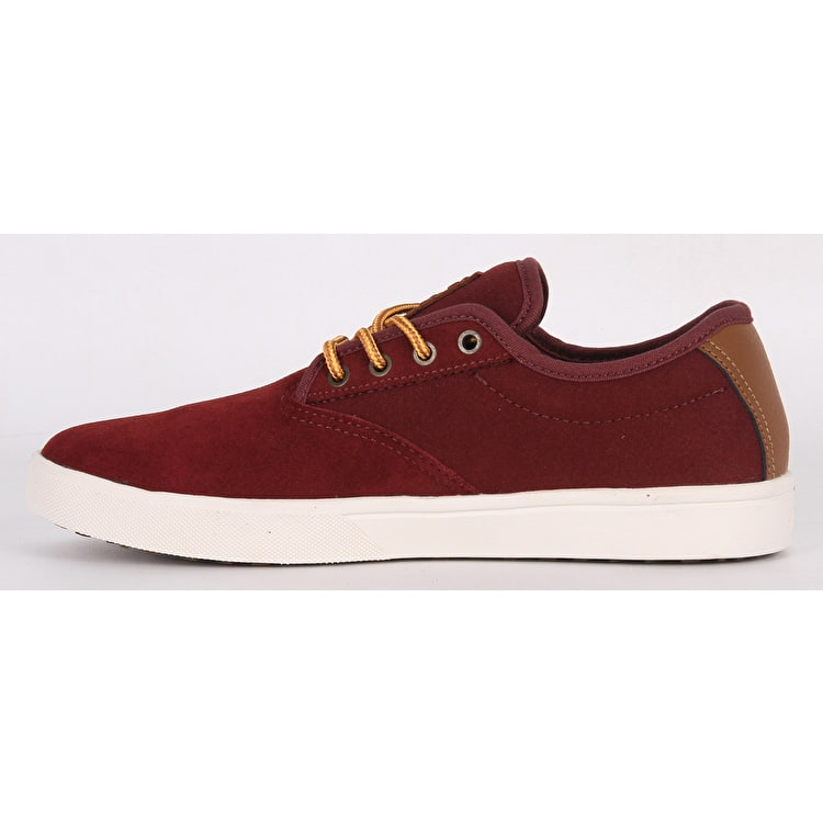 Etnies Jameson SLW Skate Shoes - Burgundy/Gold