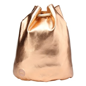 Mi-Pac Metallic Drawstring Swing Bag - Rose Gold