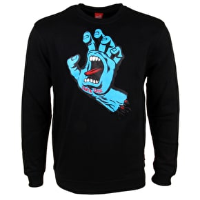 Santa Cruz Crewneck - Screaming Hand Black