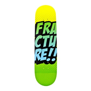 Fracture Skateboard Deck - Comic VT Yellow/Green 8.125