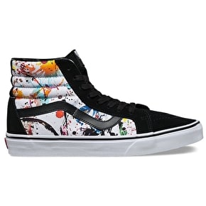 Vans SK8-Hi Reissue Skate Shoes - (Paint Splatter) Multi/True White