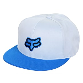 Fox Slasher Head Snapback Cap - White/Blue