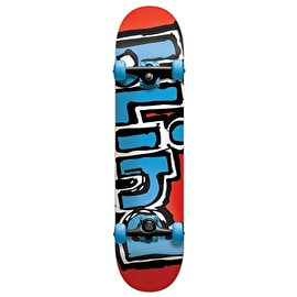 Blind Matte OG Logo Complete Skateboard - Red / Blue 7.7
