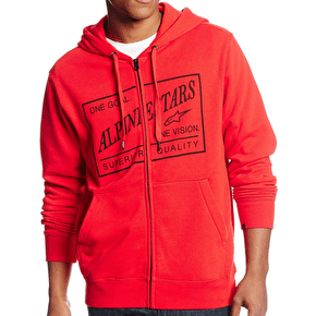 Alpinestars Superior Zip Hoodie - Red