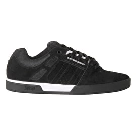 DVS Suede Getz Skate Shoes - Black/White/Black