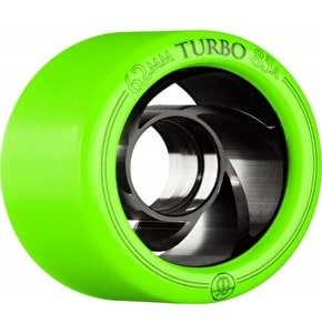Rollerbones Derby Turbo Quad 62mm Wheels 88A (8pk) Green
