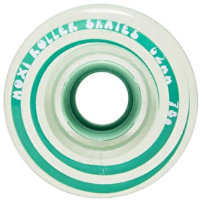 Moxi 65mm Gummy Quad Skate Wheels Clear Teal 78A