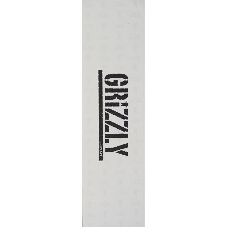 Grizzly Clear Stamp Skateboard Grip Tape - Clear