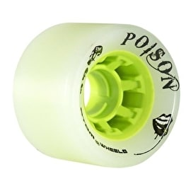 Atom Quad Derby 62mm Wide Poison Wheels 84A (4pk) - Natural Green