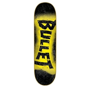 Bullet Skateboard Deck -  Sprayed Black 7.8