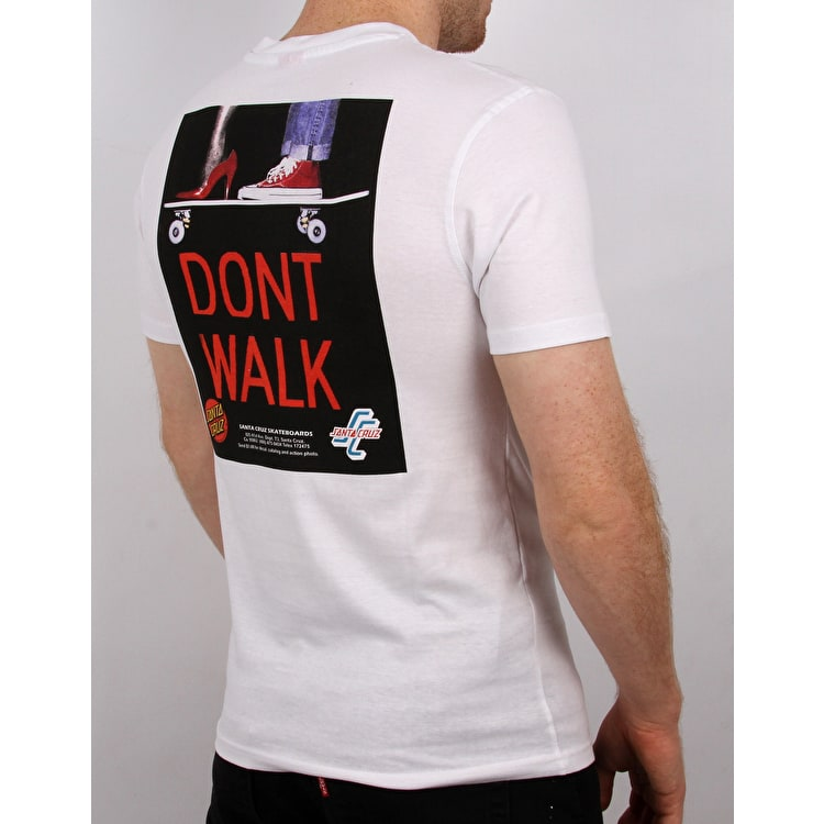 Santa Cruz Don't Walk T Shirt - White