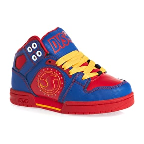 DVS Kids Aces High Shoes - Blue/Red Action Leather