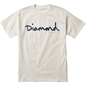 Diamond OG Script T-Shirt - Cream