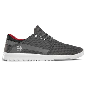 Etnies Scout Skate Shoes - Grey/Black/Red