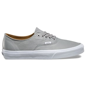 Vans Authentic Decon Skate Shoes - (Premium Leather) Wild Dove/True White