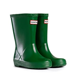Kids Hunter First Wellington Boots - Green