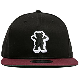 Grizzly Dimensional OG Bear Snapback Cap - Black/Burgundy