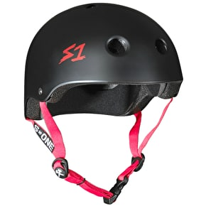 S1 Lifer Multi Impact Helmet - Black Matte/Red Strap