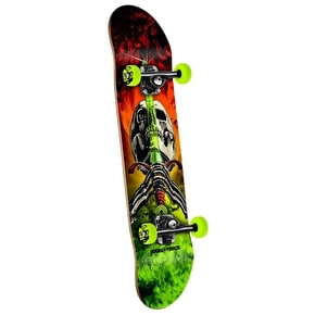Powell Peralta Skateboard - Storm Skull & Sword Red/Green 7.5