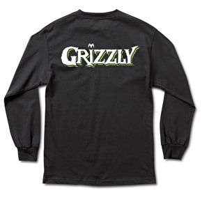 Grizzly x Venom OG Bear Longsleeve T-Shirt - Black