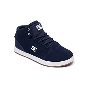 DC Crisis High Kids Skate Shoes - Navy