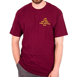 DGK Hustle Champs T shirt - Burgundy