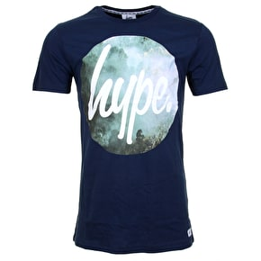 Hype Valley Circle T-Shirt - Navy