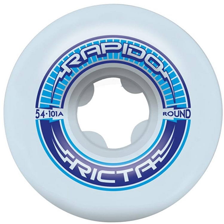 Ricta Rapido Round 101a Skateboard Wheels - White (Pack of 4)