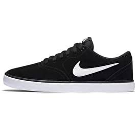 Nike SB Check Solar Skate Shoes - Black/White